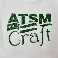 Green glitter heat transfer