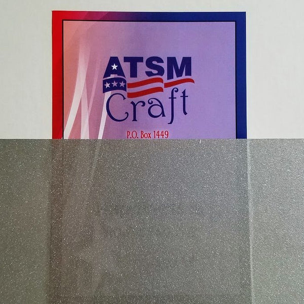 Translucent silver glitter craft vinyl