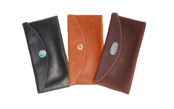 Extra Small Leather Envelope - Button