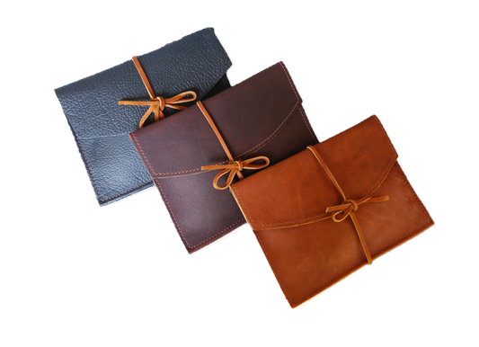 Small Leather Envelope - Tie