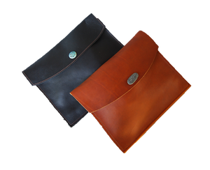 Large Leather Envelope - Button