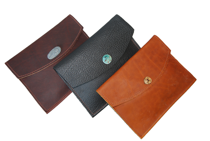 Small Leather Envelope - Button
