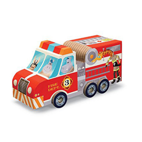 Fire Truck Puzzle & Play Set
