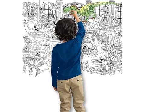 Day at the Museum Dino Giant Coloring Poster