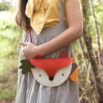DIY Woodland Fox Felt Bag
