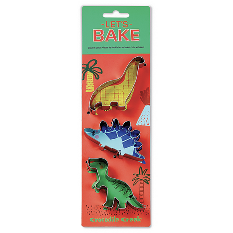 Let´s Bake Set of 3 Dinosaurs
