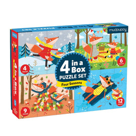 Four Seasons 4 in a Box Puzzle Set