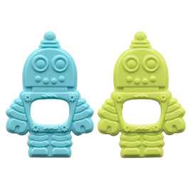 Retro Robot Silicone Teether