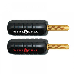 wireworld cables, wireworld banana plugs, WIREWORLD gold banana plugs, banana plugs, affordable speaker cables, best cables for hifi speakers, wireworld cables canada