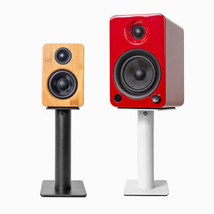 Kanto Speaker Stands, Desktop speakers, desktop speakers stands, black stands, speakers stands montreal, Art and Sound Montreal, Kanto S2, Kanto S2 stands, Art et Son, Speakers Montreal