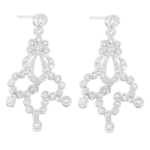 14K White Gold 1 3/4ct.TDW Round-cut Diamond Earrings (H-I, SI1-SI2)