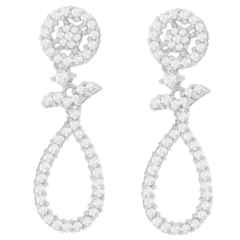 14K White Gold 1 1/3ct. TDW Round-cut Diamond Earrings (H-I,SI1-SI2)