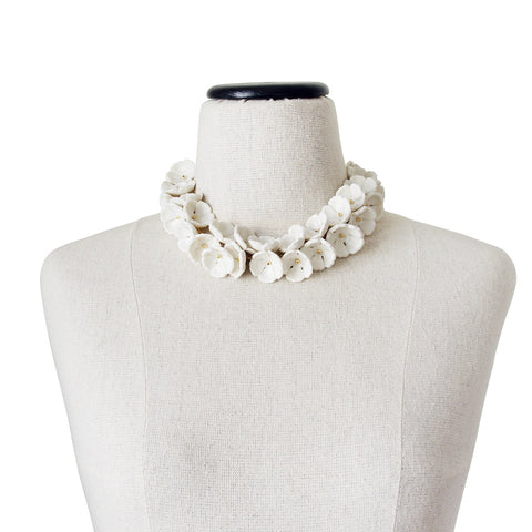 Porcelain Plum Blossom Cluster Necklace