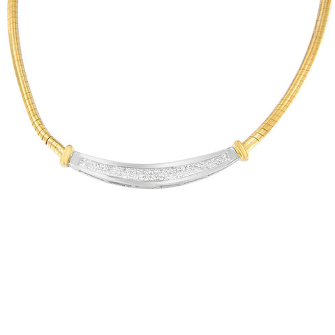 14K Two Toned 1ct. TDW Princess-cut Diamond Necklace (H-I,SI1-SI2)