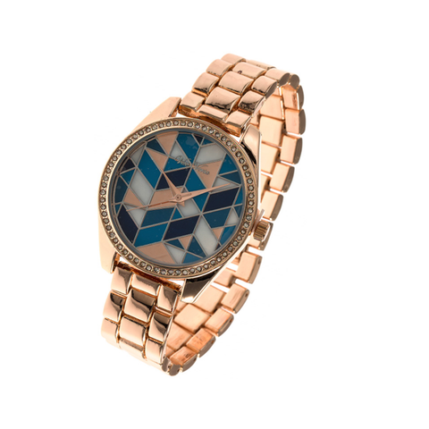 Copper Geometric Crystal Watch