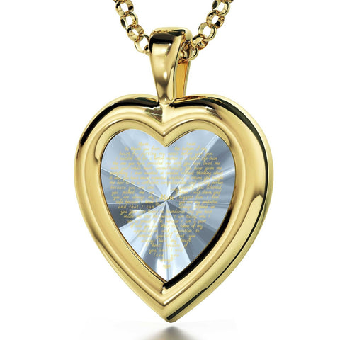 Thank You Mom, 24k Gold Plated Necklace, Cubic Zirconia