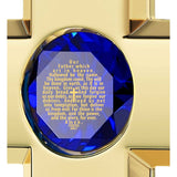 """The Lord's Prayer"" KJ Version, 24K Gold Plated, Swarovski"