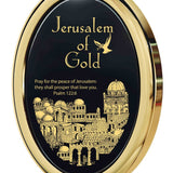 Jerusalem of Gold, 24k Gold Plated Necklace, Onyx