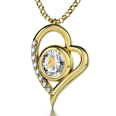 Aquarius Sign, 14k Gold Diamond Necklace, Swarovski