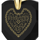 Letter to Mom, 24k Gold Plated Necklace, Cubic Zirconia