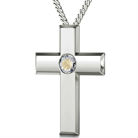 """The Lord's Prayer"" Traditional Version, 925 Sterling Silver Necklace, Swarovski"