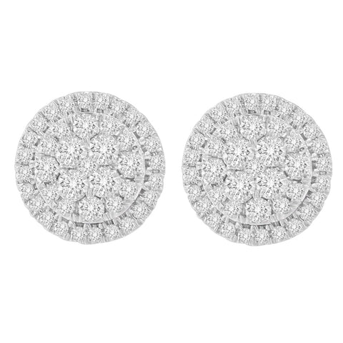 10K Yellow Gold 1.5 CTTW Round Cut Diamond Earrings (H-I, I2-I3)