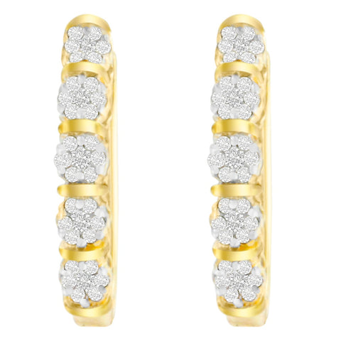 14k Yellow Gold 1/2ct TDW Round Diamond Earrings (H-I,SI2-I1)