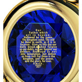 """The Lord's Prayer"" KJ Version, 24k Gold Plated Necklace, Swarovski"