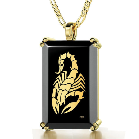 """You Don't Really Wanna Mess With Me"", 24k Gold Plated Necklace, Onyx"