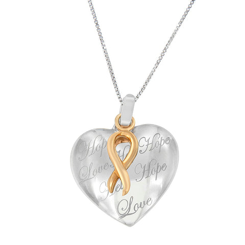 10k Gold over Silver Heart Pendant Necklace