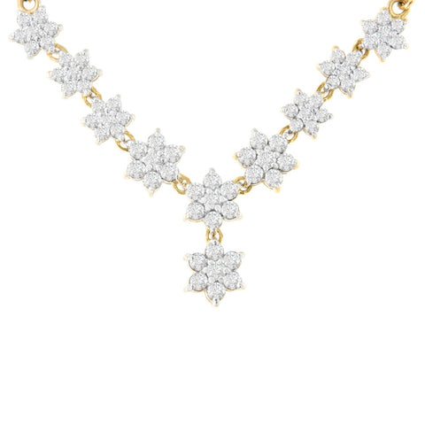 10k Yellow Gold 2 ct. TDW Round Cut Diamond Floral Pendant (H-I, SI2-I1)