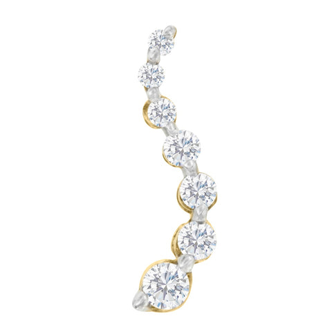 10k Yellow Gold 0.25 CTTW Round Diamond Journey Pendant (H-I, I1-I2)