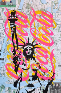 Denis Ouch - Naked Statue of Liberty & Coca Cola