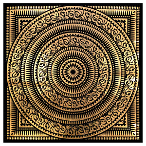 Cryptik - Gold Foil Bandanas (Framed)
