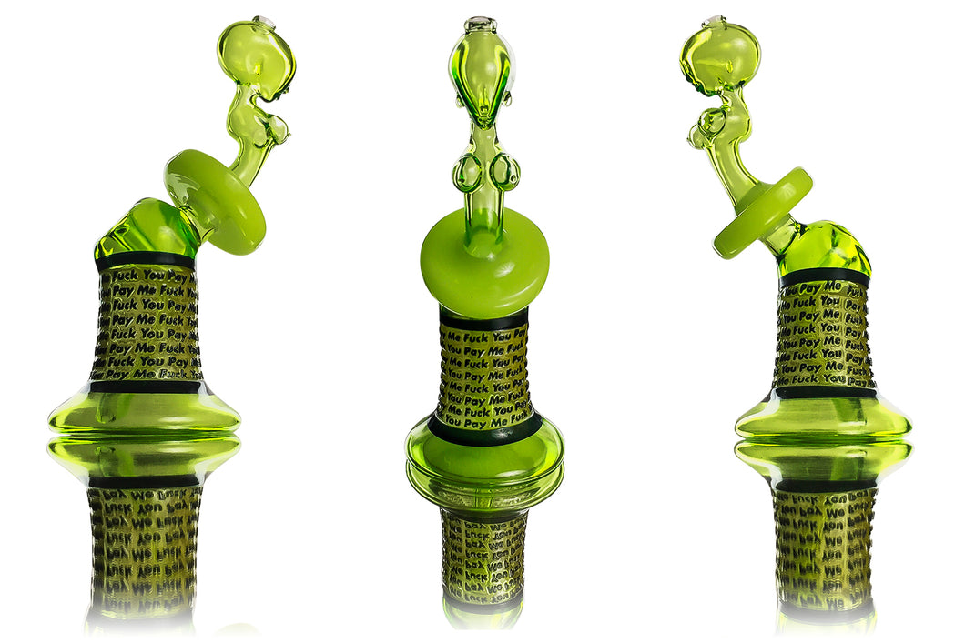 Heliox ft Headband - Dab Rig - Recycler FYPM (Green) 10 mm Female