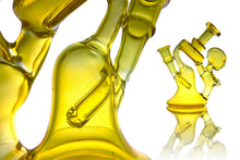 Heliox - Dab Rig - Recycler - Woman - (Clear) Yellow  - 14 mm Female
