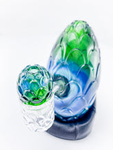 Whitney Harmon Glass X Tags Glass - Carved Dragon Egg - Blue