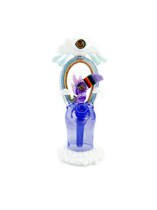 RJ Glass - Rainbow Beaked Indigo Macaw - Rig/Bubble Cap