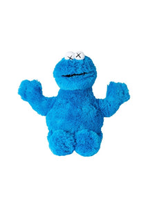 KAWS - Sesame Street Uniqlo Cookie Monster Plush Toy Blue