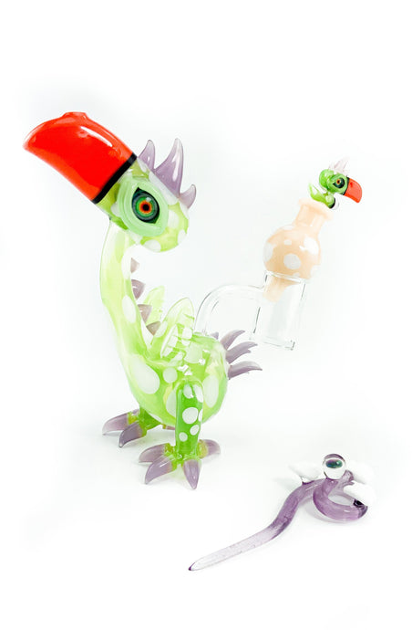 RJ Glass  - Dino Bird - Dab Rig