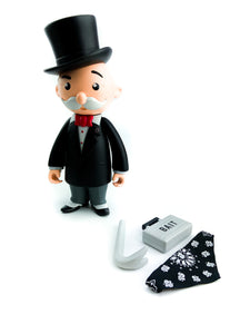 BAIT x Monopoly x Switch Collectibles Mr Pennybags 7 Inch Vinyl Figure - Standard Edition (black)