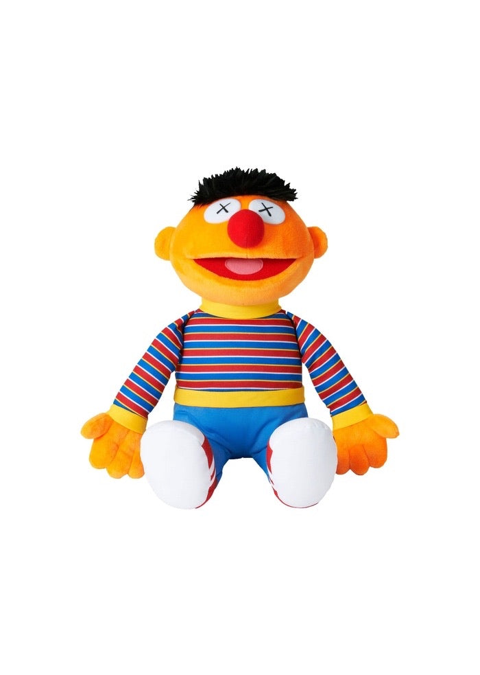 KAWS Sesame Street Uniqlo Ernie Plush Toy Orange