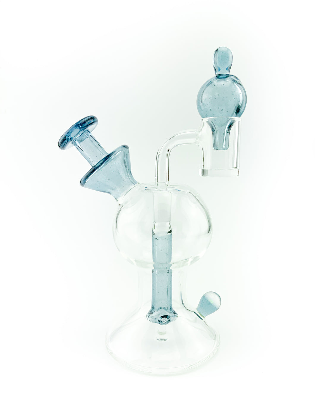 Lid Glass - The Recessed Layback Rig - Bubble Cap - Blue