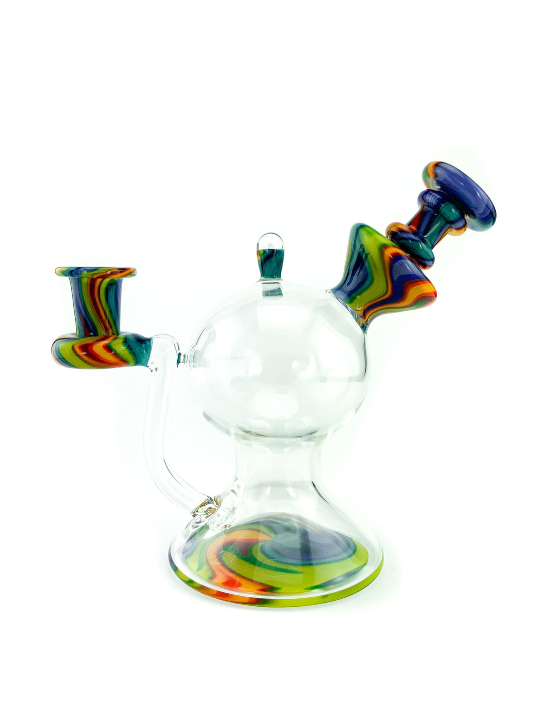 Lid Glass - Rainbow Dab Rig