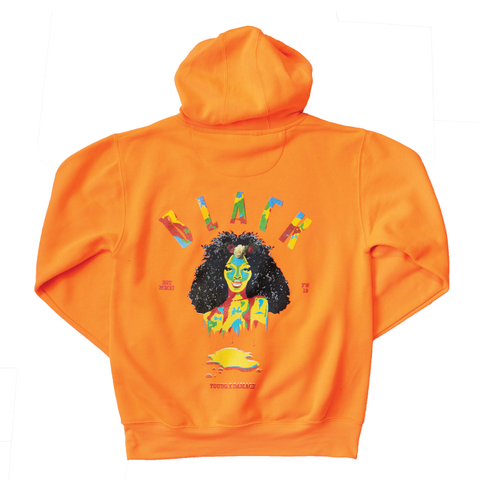 WOMAN POWER/ORANGE SODA HOODIE - blackbyyoung