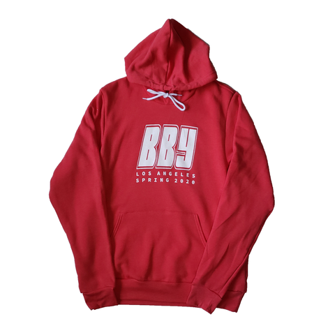 BBYSS20 Hoodie//Heather Red - blackbyyoung