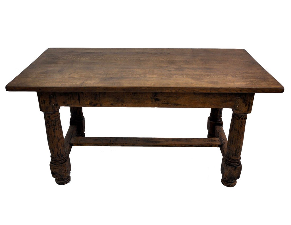 Rare 18c French Farmhouse Country Oak Dining Table, Unique