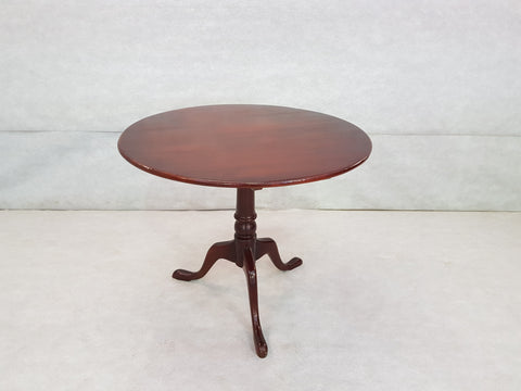 French Petite Round Tilt Top Small Cherry Breakfast Dining Table