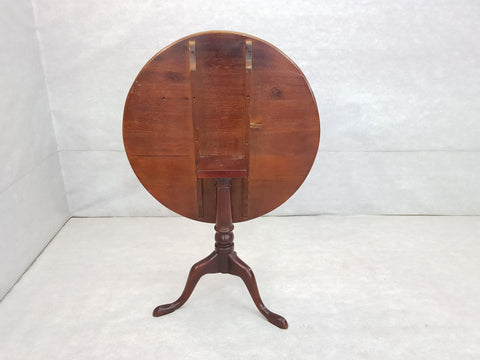 French Petite Round Tilt Top Small Bistro Cherry Breakfast Dining Table