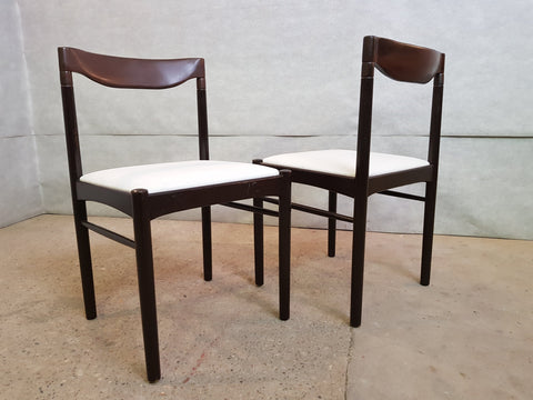 Image of Set of 8 Danish Mid Century Modern Moller Style Reupholstered Dining Chairs